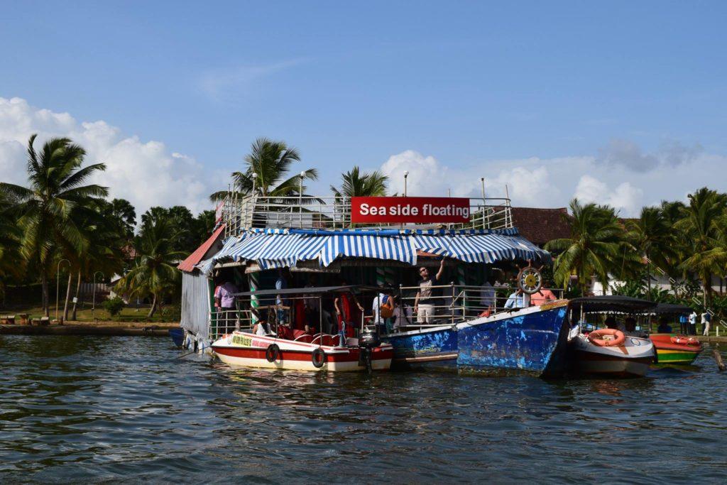 Floating restaurent in Neyyar Lake Kerala