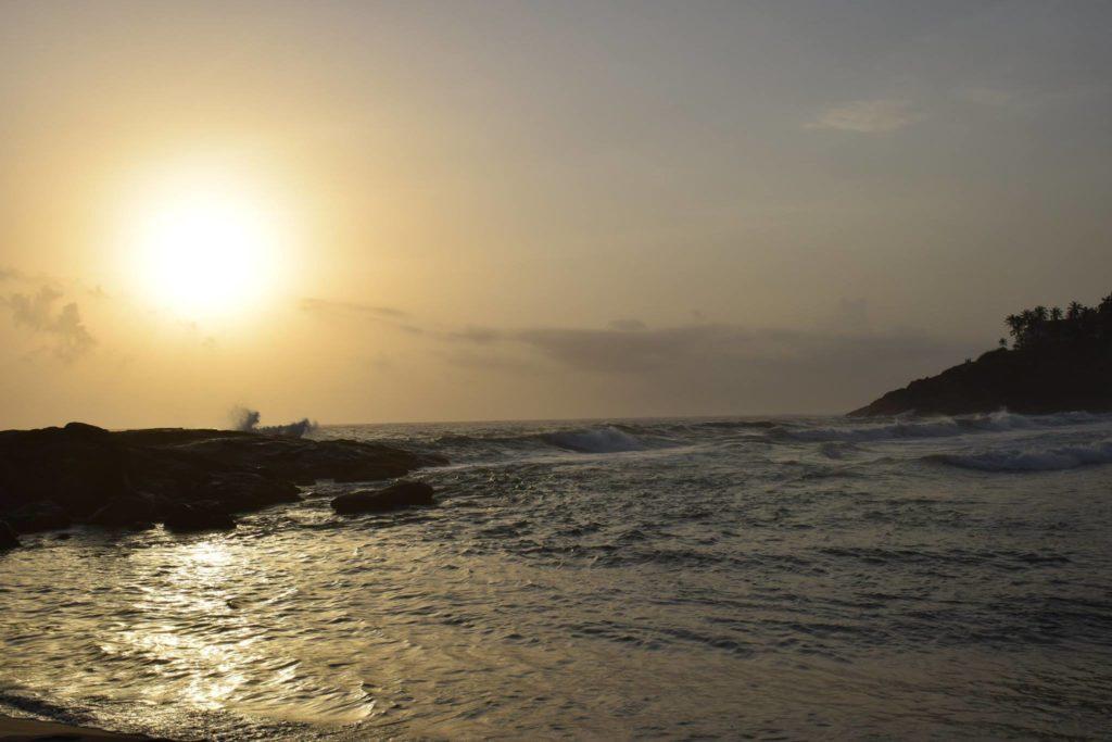 Sunset in Kovalam Beach Kerala