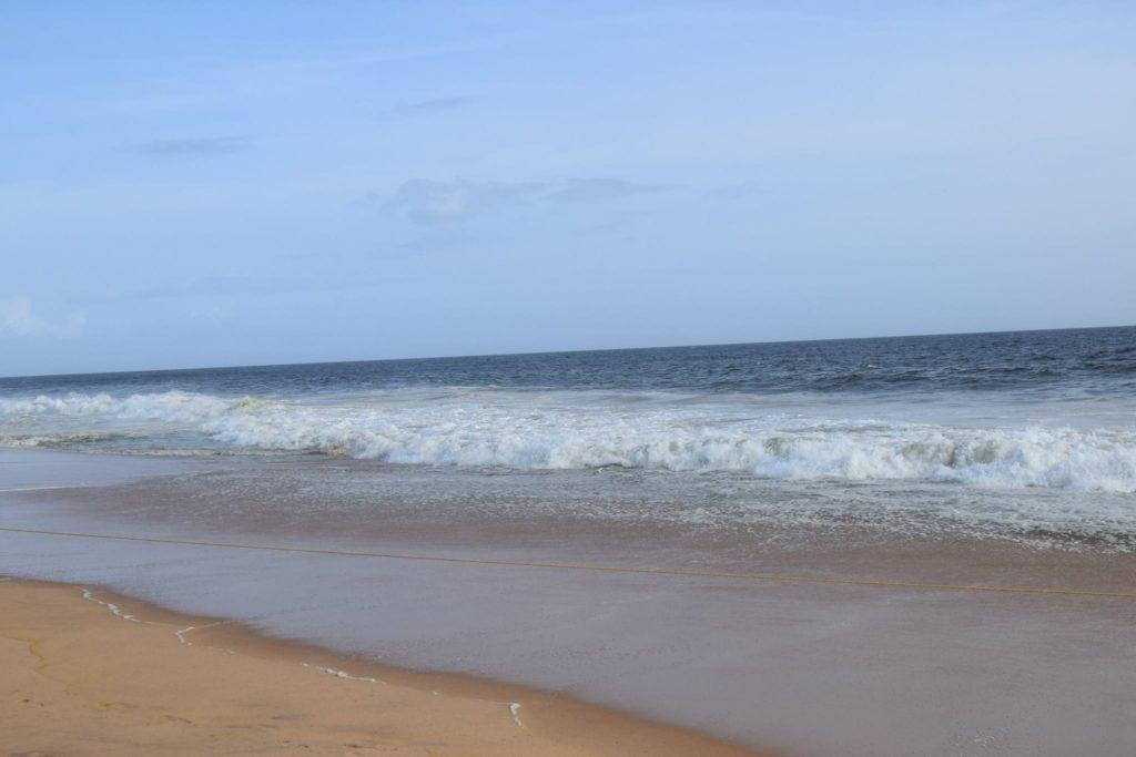 Golden sand beach Kerala