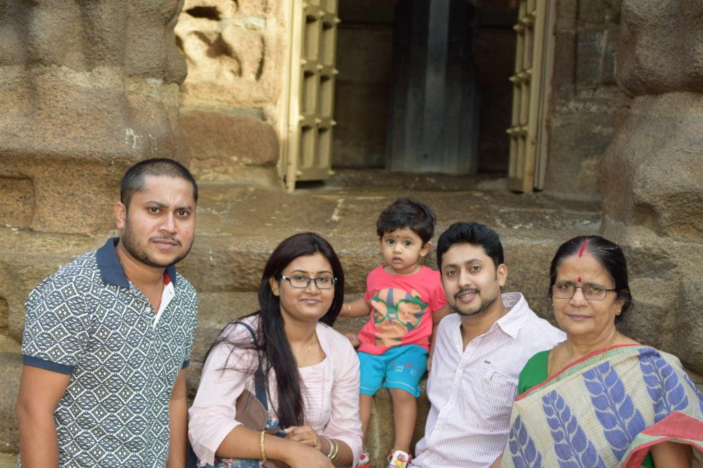 My Family at Sea Shore Temple, Mahabalipuram