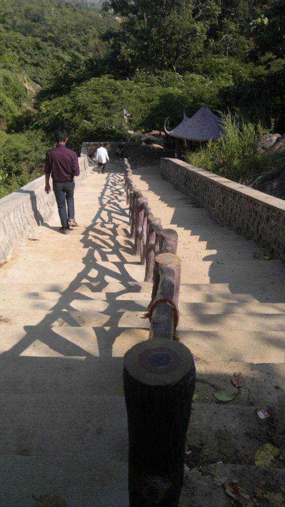 Stairs to reach Panchlingeswar Temple