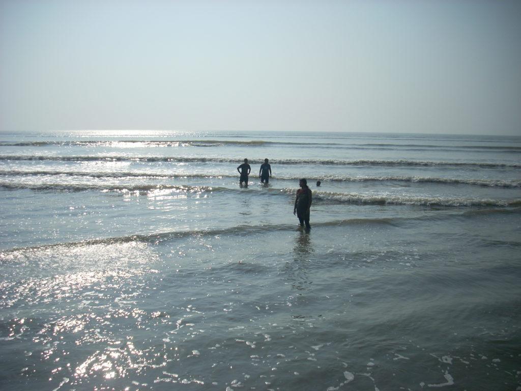 Chandipur beach during High Tide
