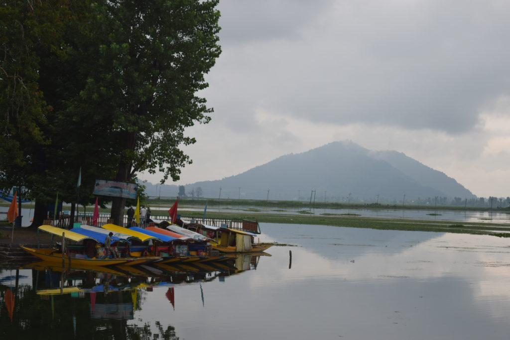 Shikara at Dal Lake, one of the top Srinagar, India points of interest