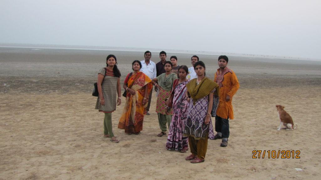 Chandipur beach during Ebb Tide