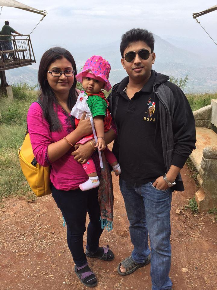 My family at Nandi Hill, a perfect gateway from Bangalore