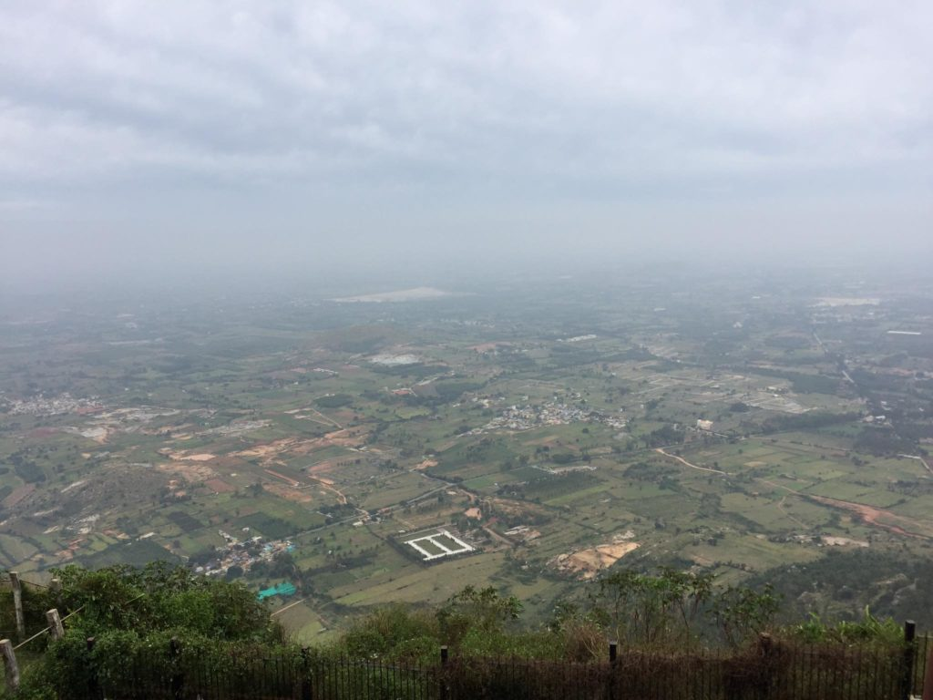 view from top of Nandi Hills