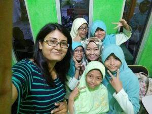 Fun with Students in Klaten