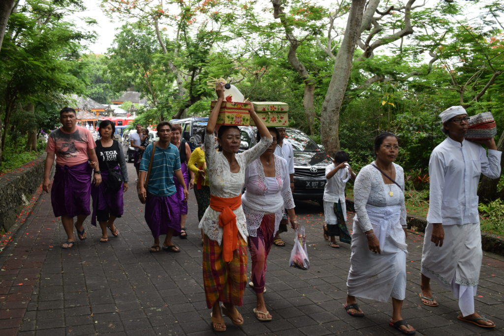 Balinese people at Uluwatu temple, Bali