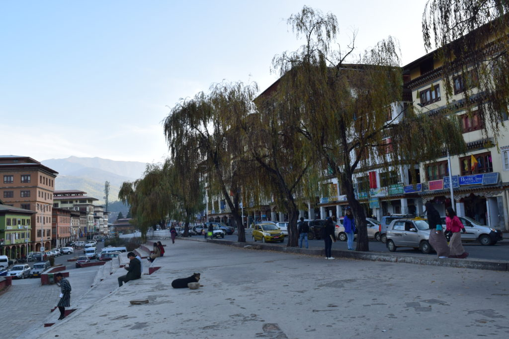 Thimphu city from out hote