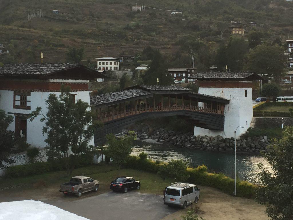 iew from the Punakha Dzong, Bhutan