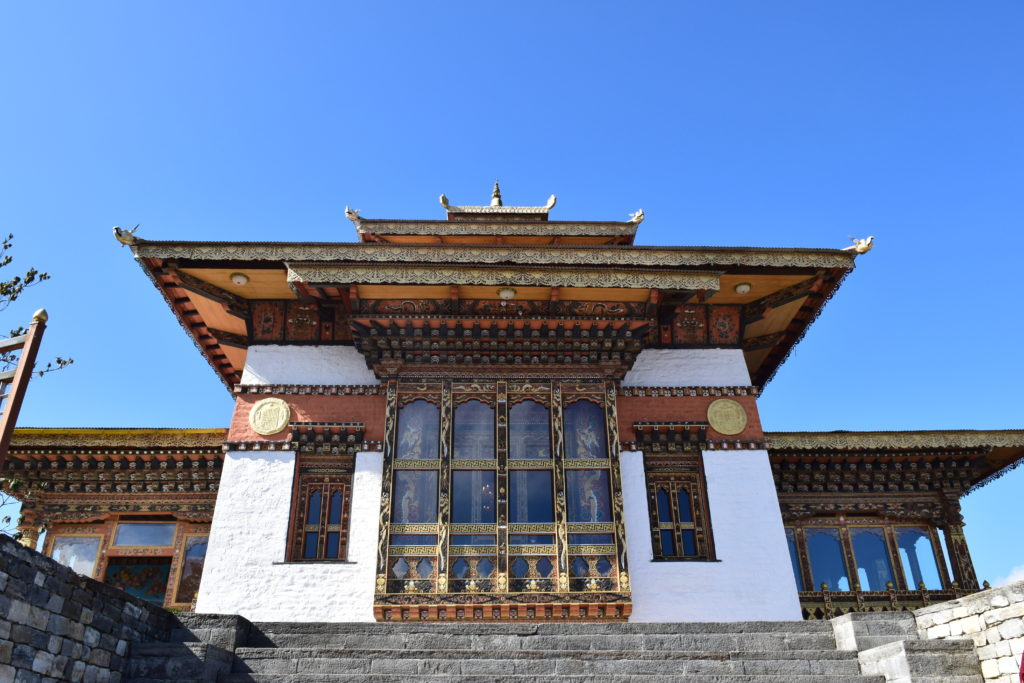 Temple infront of Chortens at Drochula Pass