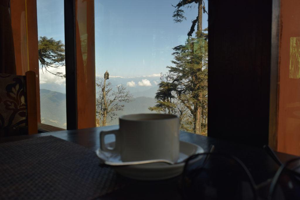 View from Dochula Pass Restaurent