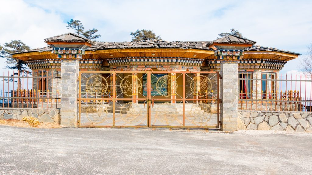 The Palace for Royal people at Drochula Pass, Bhutan