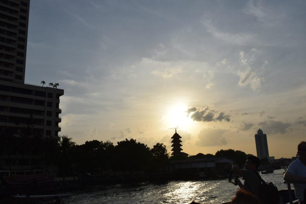 Sunset from the Chao Phraya River, Bangkok