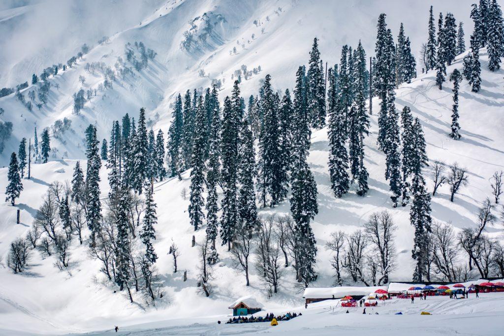 Gondola ride Gulmarg view in Winter