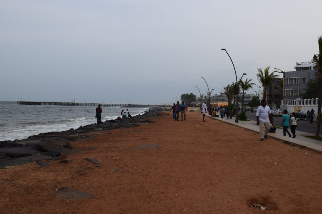 Rock beach at Pondicherry
