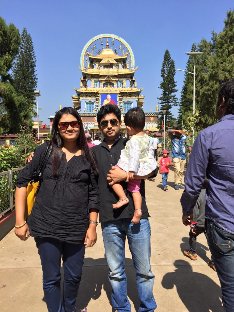 We in front of Namdrolling Monastery- Coorg attractions