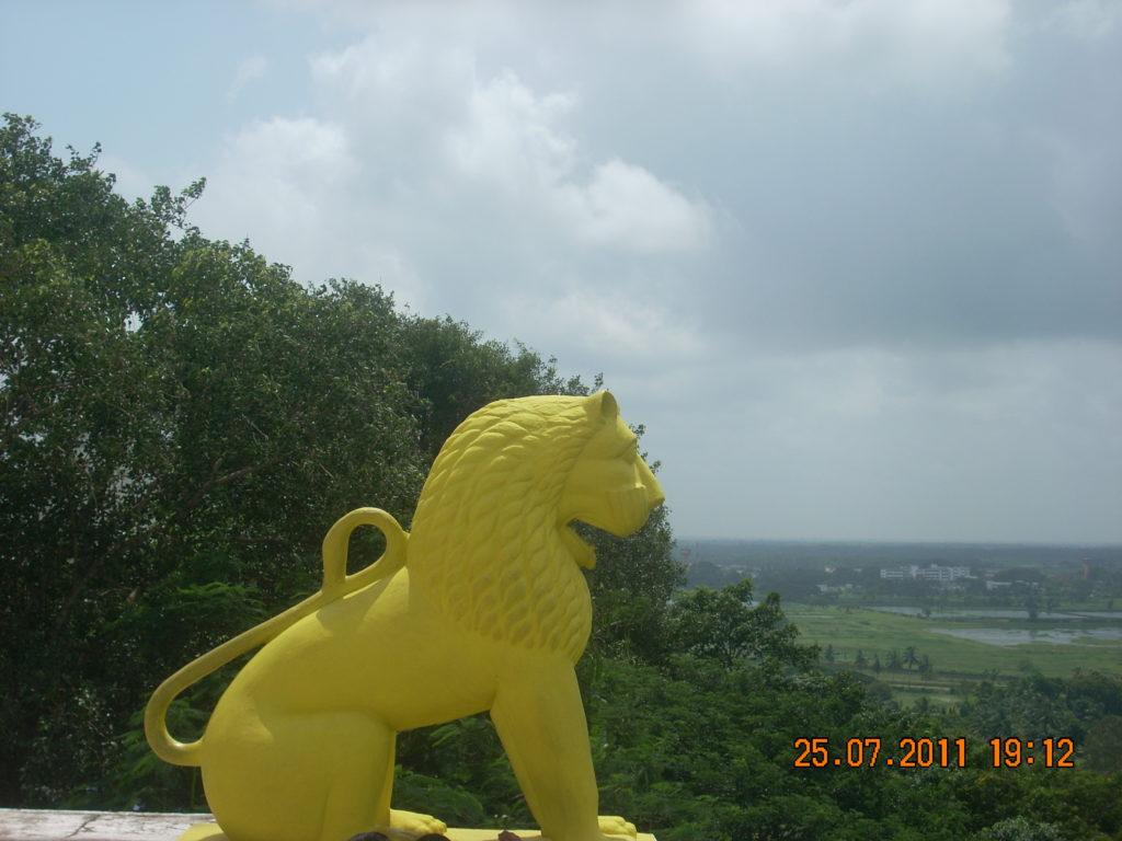 Temple top at Dhauli Giri