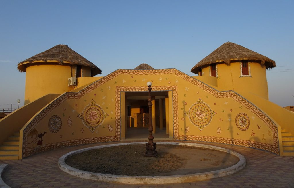 Typical huts for stay at Rann of Kutch
